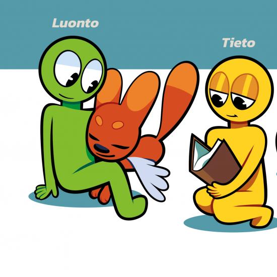 Logohahmot Tieto, Taito ja Tunne sekä lentokettu Liiti